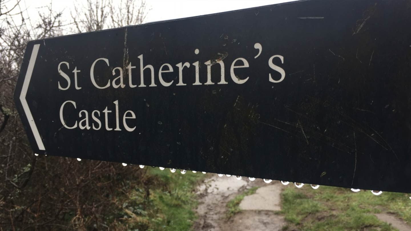 Coombe Farm to St Catherine's Castle