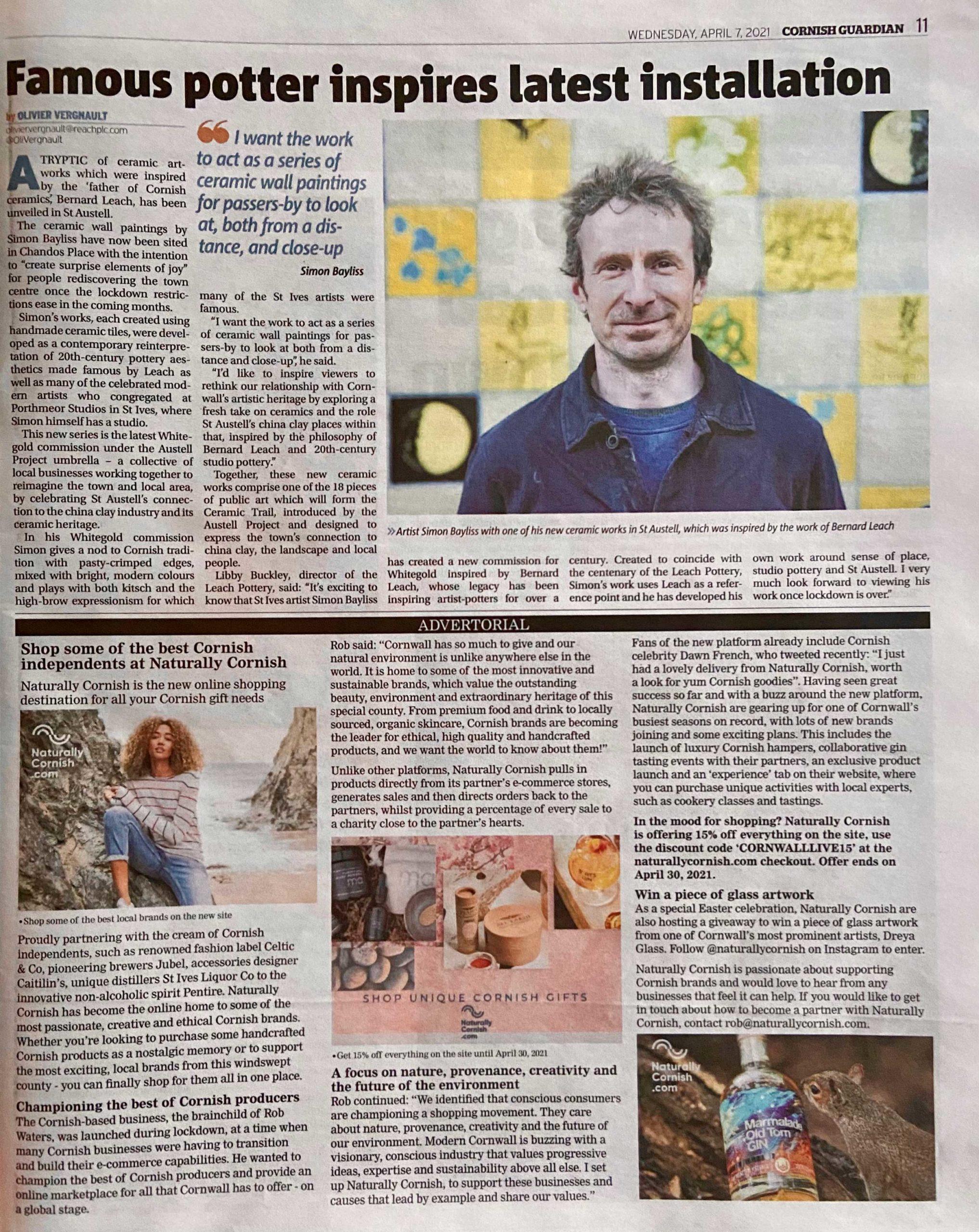 Cornish Guardian Article
